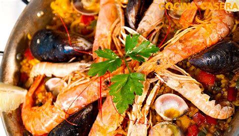 recetas de cocina paella de marisco receta de paella de mariscos y pescado al estilo tradicional