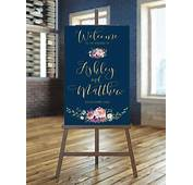 Printable Wedding Sign Welcome Floral