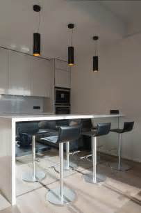 Kitchen Bar Furniture 23rd Floor Panorama High Apartment Has Fantastic Views Of The Moscow City Skyline
