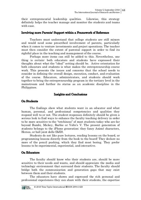 thesis about values education in the philippines essay on entrepreneurial leadership
