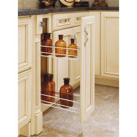 Side Cabinet Spice Rack Side Mount Kitchen Base Cabinet Pull Out Organizers By Rev