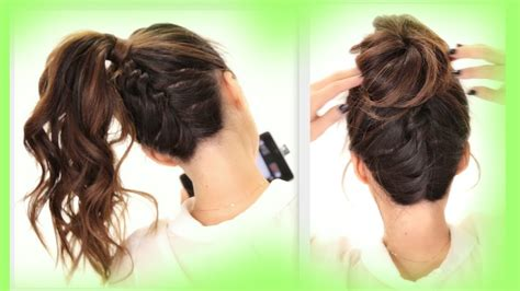 2 cute braids back to school hairstyles braided messy