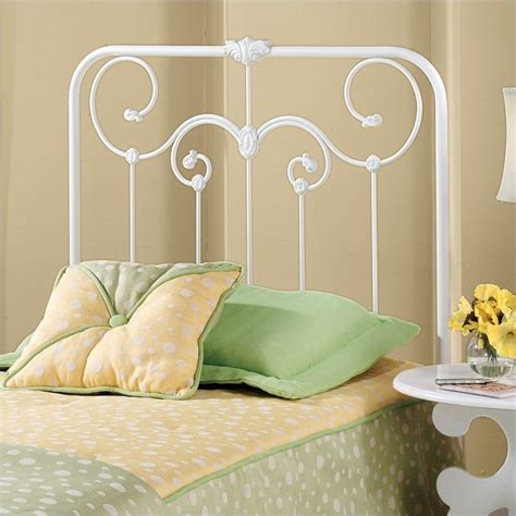 White Iron Headboard by Hillsdale White Metal Headboard