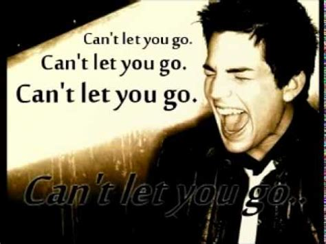 can t let you go mp adam lambert can t let you go with lyrics youtube