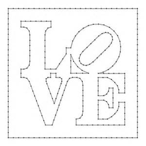 String Patterns To Print - string pattern sheet designed by robert indiana