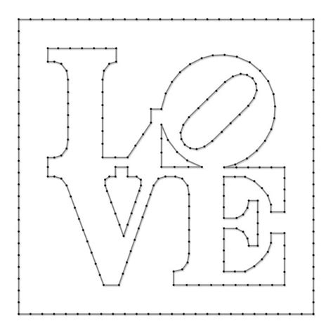 Free String Patterns To Print - string pattern sheet designed by robert indiana