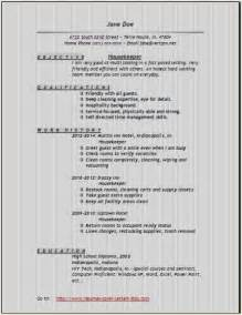 housekeeper resume exles sles free edit with word