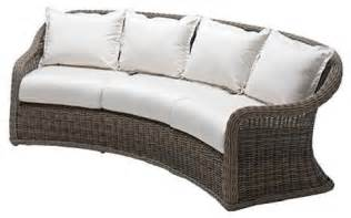 Curved Patio Sofa Curved Outdoor Sofa With Cushions Patio Furniture Traditional Outdoor Sofas By