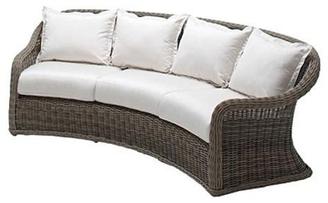 Havana Curved Outdoor Sofa With Cushions Patio Furniture Curved Outdoor Sofa