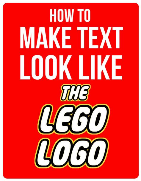 printable font maker how to make text look like the lego logo using gimp