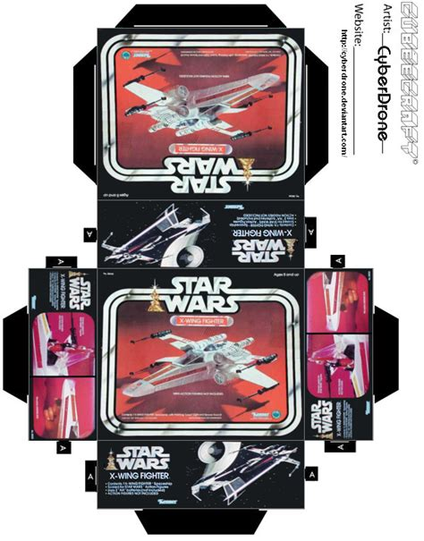 printable foldable star wars toys mini x wing fighter toy box by cyberdrone on deviantart