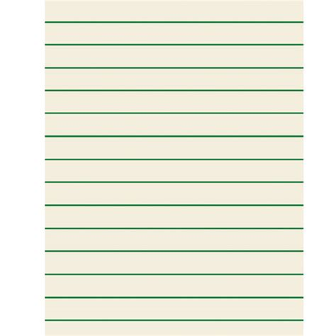 x lined paper green bold lined paper for students 8 5 x 11 inches 0 75