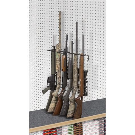 Pegboard Gun Rack by 1 6 Rifle Leans Right Display Peg Board Sku 6601p