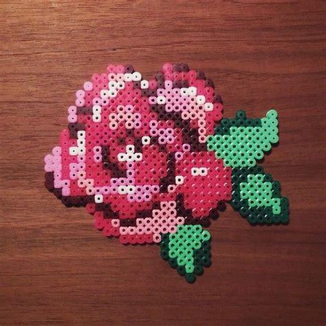 bead of roses flower hama perler by camilladrejer perler