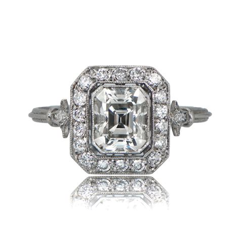 antique emerald cut ring