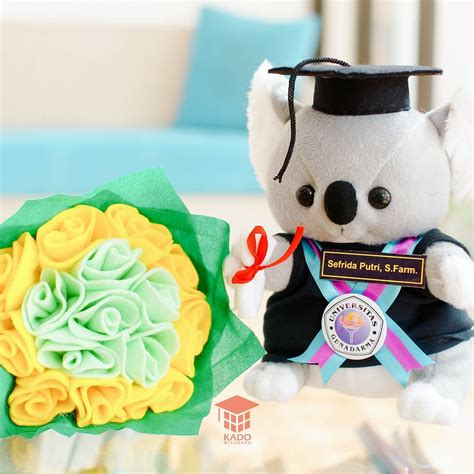 Boneka Wisuda Anjing jual hadiah skripsi boneka wisuda koala murah kado wisudaku