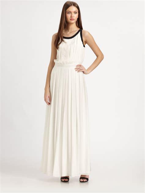 Pleated Dress 16091 Black lyst zoe silk chiffon pleated maxi dress in white