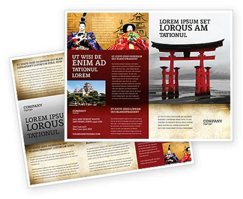 japan travel brochure template ancient japan brochure template design and layout