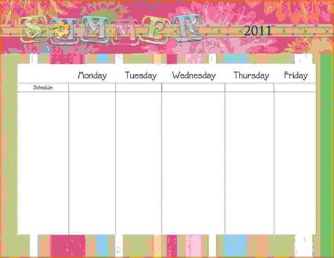 Calendars That Work Monday Through Friday Monday Through Friday Printable Calendar Free Calendar