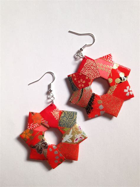 How To Make Origami Jewelry - patchwork origami foldit creations