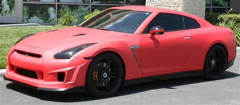 Nissan Gtr Matte Red Wrap Matte Finish Gatorwraps
