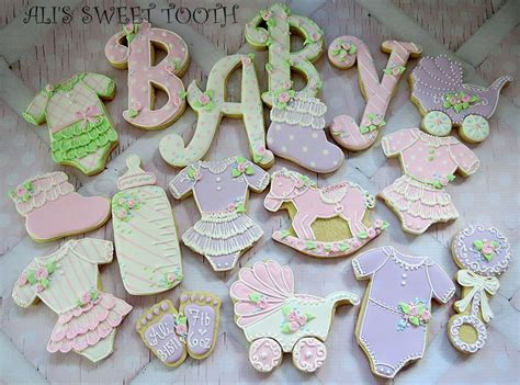 ali s sweet tooth baby shower cookies pink amp lavender