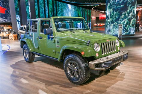 Jeep Wrangler Unlimited Anniversary Edition Jeep Celebrates 75th Birthday With Special Edition Models