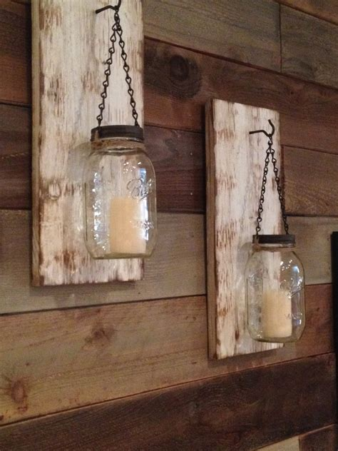 Rustic Sconces Rustic Jar Wall Sconce Rustic White By