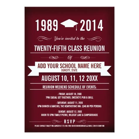 reunion invitation card templates class reunion invitations zazzle