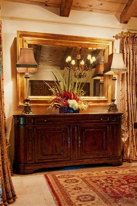 Dining Room Buffett by Bright Mirrored Buffet In Dining Room Mediterranean With