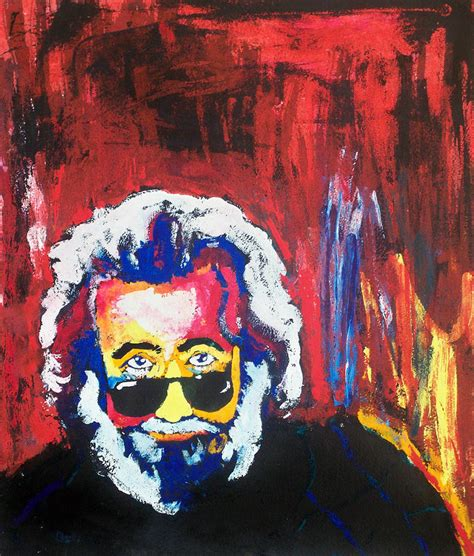 jerry painting jerry garcia painting by napoli