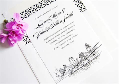 affordable wedding invitations cincinnati cincinnati skyline wedding invitations