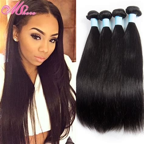 indian human hair weave au goddess hair indian straight virgin hair 4 bundles