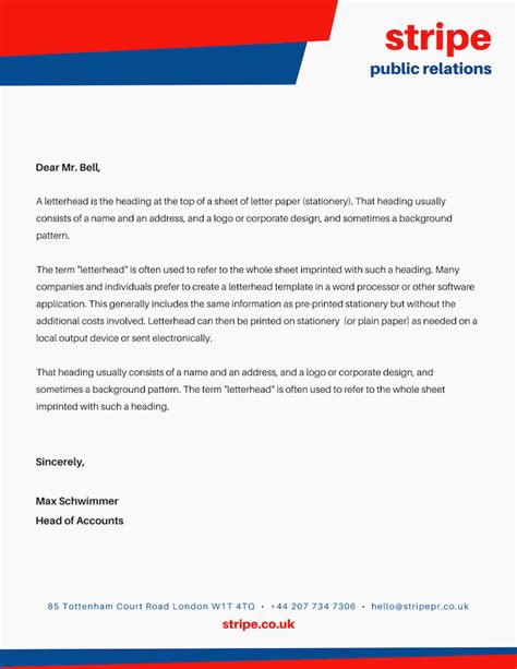Business Letter Template Software Letterhead Images Free Printable Letterhead