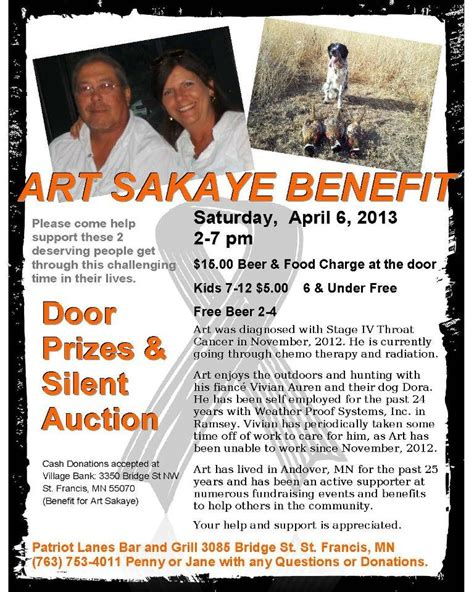 free benefit flyers for cancer victims art sakaye