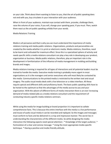 Exle Speech Essay by Of Speaking