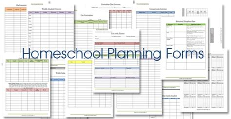 free printable homeschool lesson plan template 6 best images of printable homeschool lesson plan template