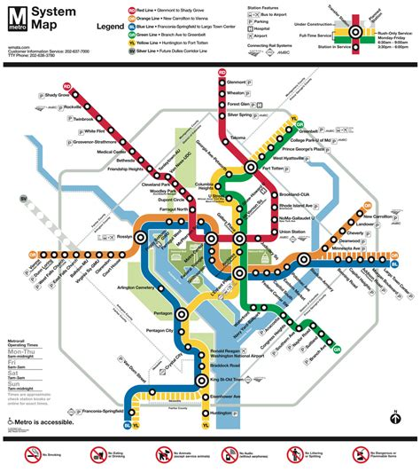 map of dc metro subway maps planyourcity