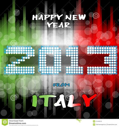 happy new year 2013 in italian stock image cartoondealer