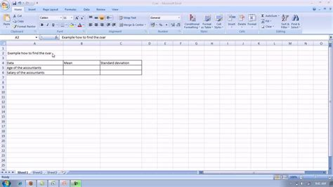 Cv In Exle Coefficient Of Variation By Using Excel Avi