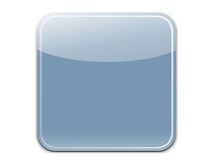 free sleek blue blank ios app icon psd template titanui