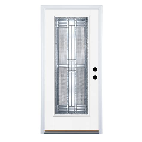 Lowes Doors Exterior Fiberglass Shop Therma Tru Benchmark Doors Lite Decorative Prehung Outswing Fiberglass Entry Door