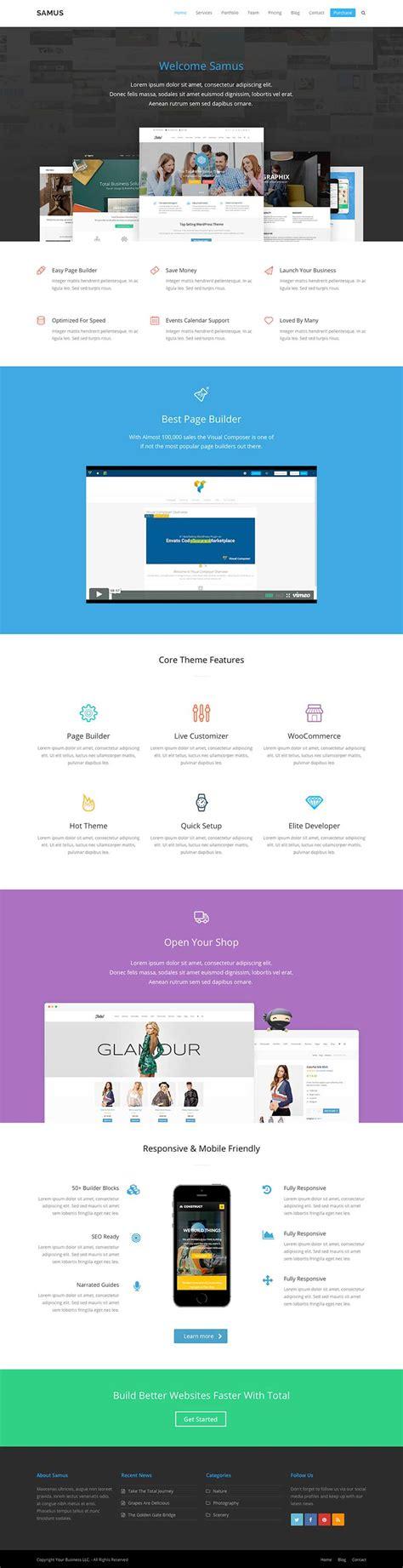 themes wordpress demo samus agency business wordpress theme demo wpexplorer