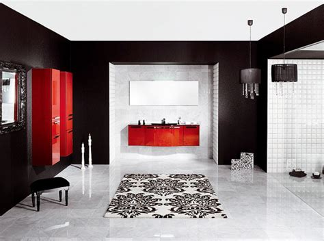 black white and red bathroom decor how to decorate with red black and white