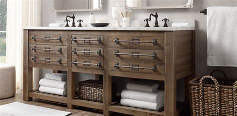 restoration hardware bathroom furniture 4 sizes