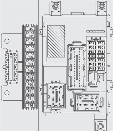 fiat doblo combi cargo mk2 from 2009 fuse box diagram