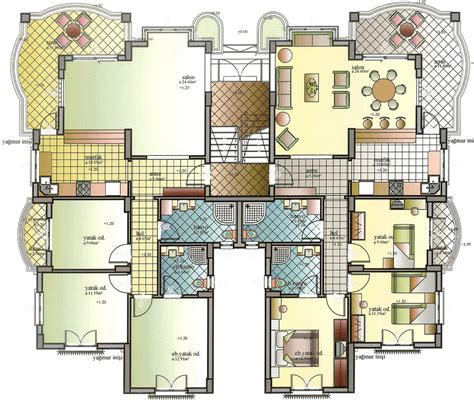 apartment building floor plans apartment building plans 6 condos modern apartment