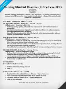 Exles Of Nursing Student Resumes by Entry Level Nursing Student Resume Sle Tips Resume