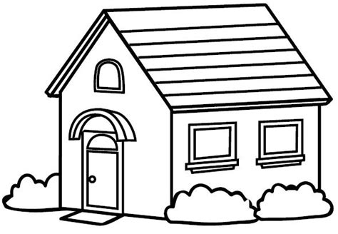 imagenes para pintar la casa dibujos de casas para colorear e imprimir gratis