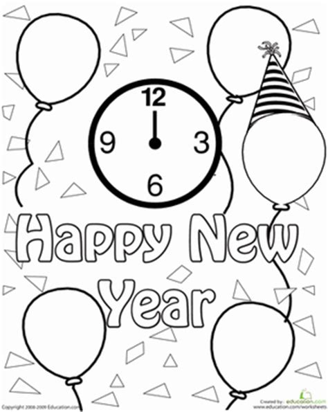 new school year coloring pages new year s worksheet education com